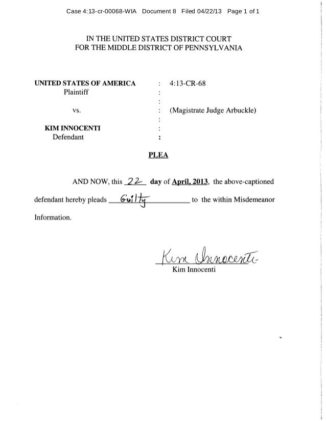 Case 4:13-cr-00068-WIA Document 8 Filed 04/22/13 Page 1 of 1