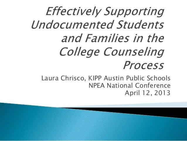 Laura Chrisco, KIPP Austin Public SchoolsNPEA National ConferenceApril 12, 2013