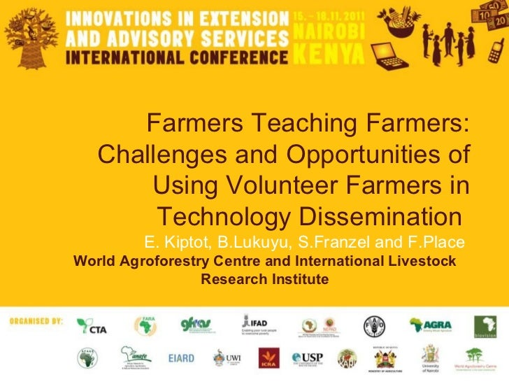 Farmers teaching farmers: challenges and opportunities of using volunteer farmers in technology dissemination