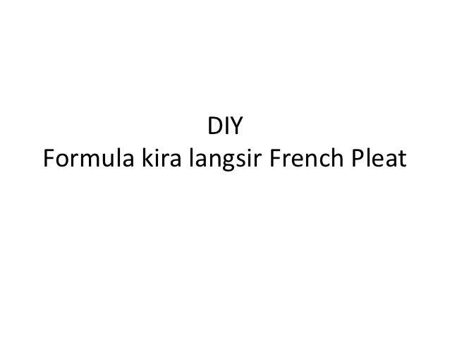 DIYFormula kira langsir French Pleat