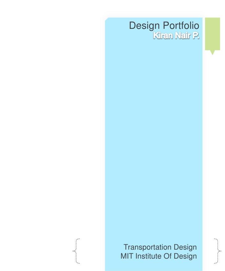 Design Portfolio     Transportation Design MIT Institute Of Design