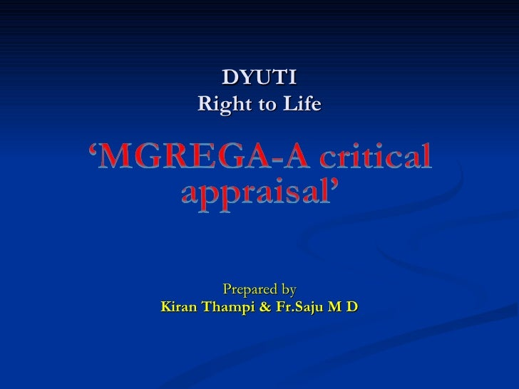 DYUTI Right to Life Prepared by Kiran Thampi & Fr.Saju M D