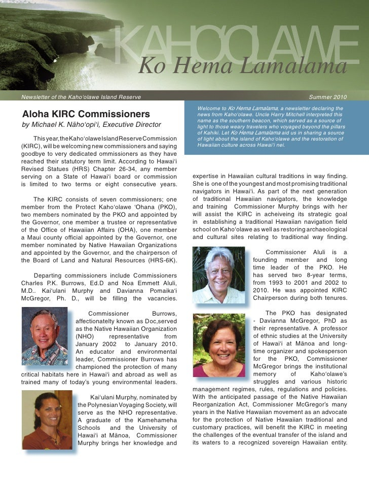 KIRC Summer 2010 Newsletter