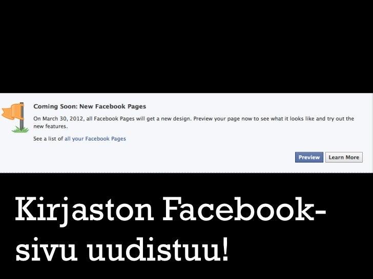 Kirjaston facebooksivut uudistuvat