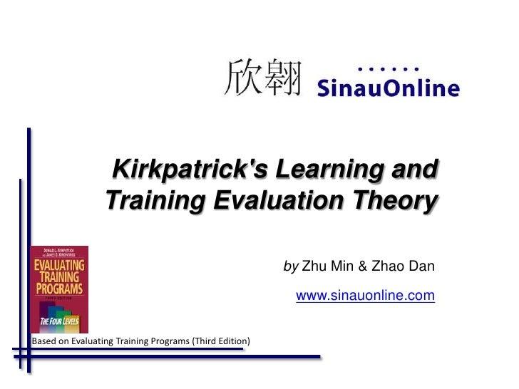 Kirkpatrick 4 level evaluation model