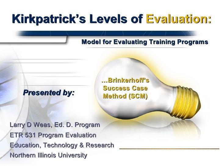 Kirkpatricks Levels Presentation