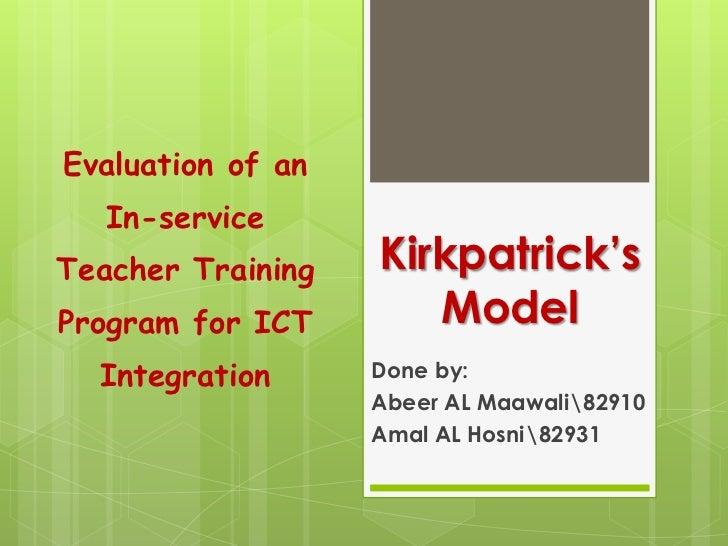 Kirkpatrick's model