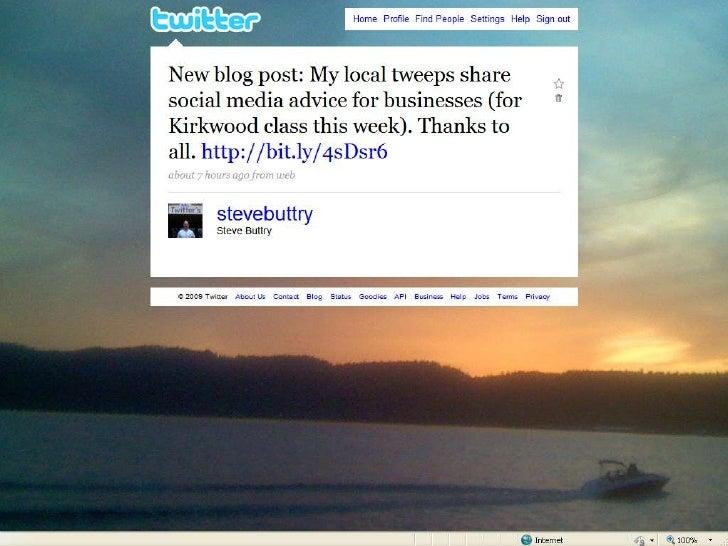 Using Social Media for Business<br />Steve Buttry<br />Kirkwood Community College<br />Sept. 1-3<br />