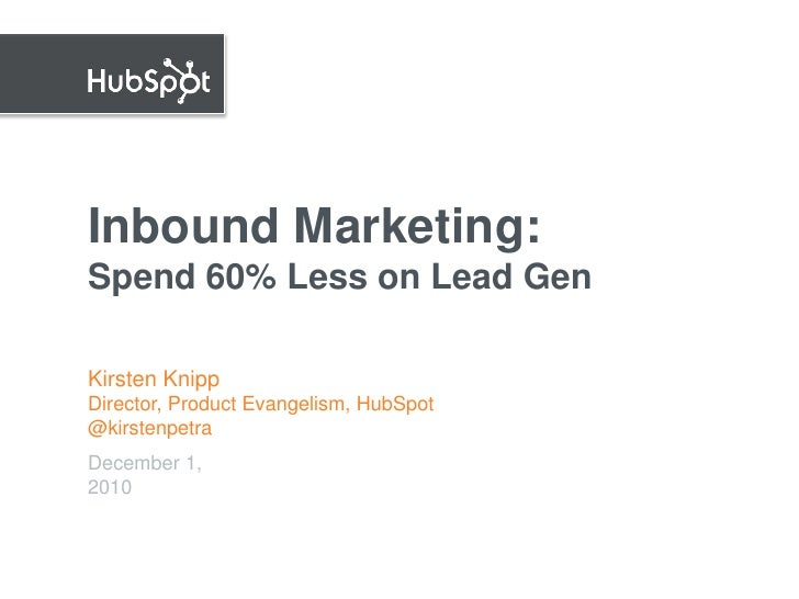 Inbound Marketing.  Leads at 60% Lower Cost for B2BEU