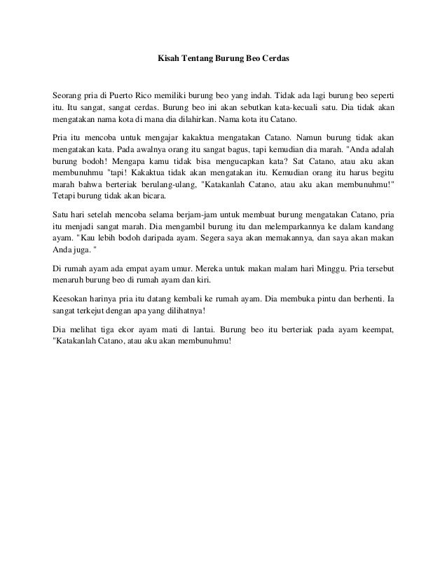 Kisah tentang burung beo cerdas