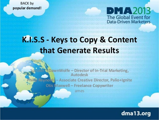 K.I.S.S - Keys to Copy & Content that Generate Results