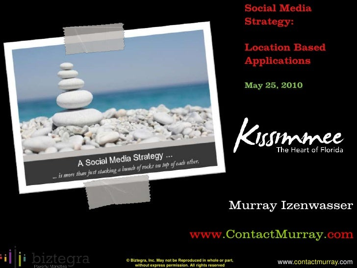 Location Based Applications and Social Media Strategy