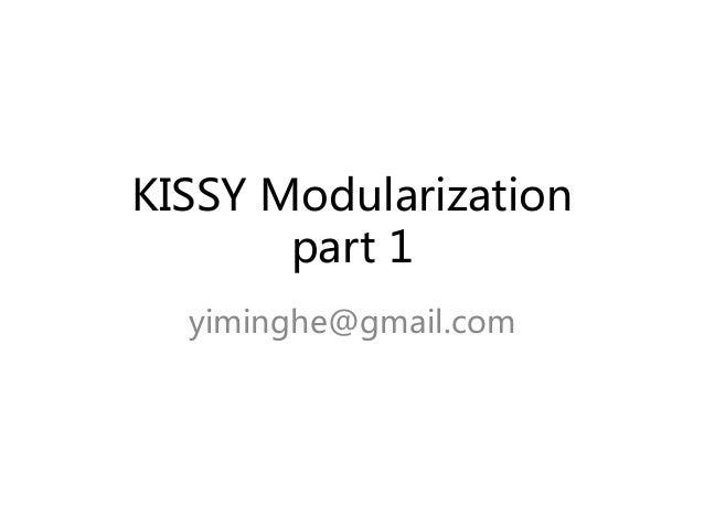 kissy modularization part1