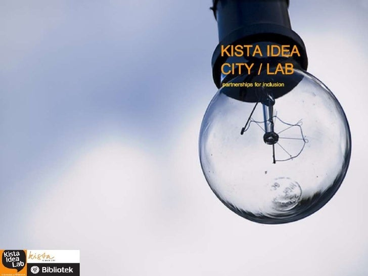 Kista Idea City/Lab - Partnerships for inclusion