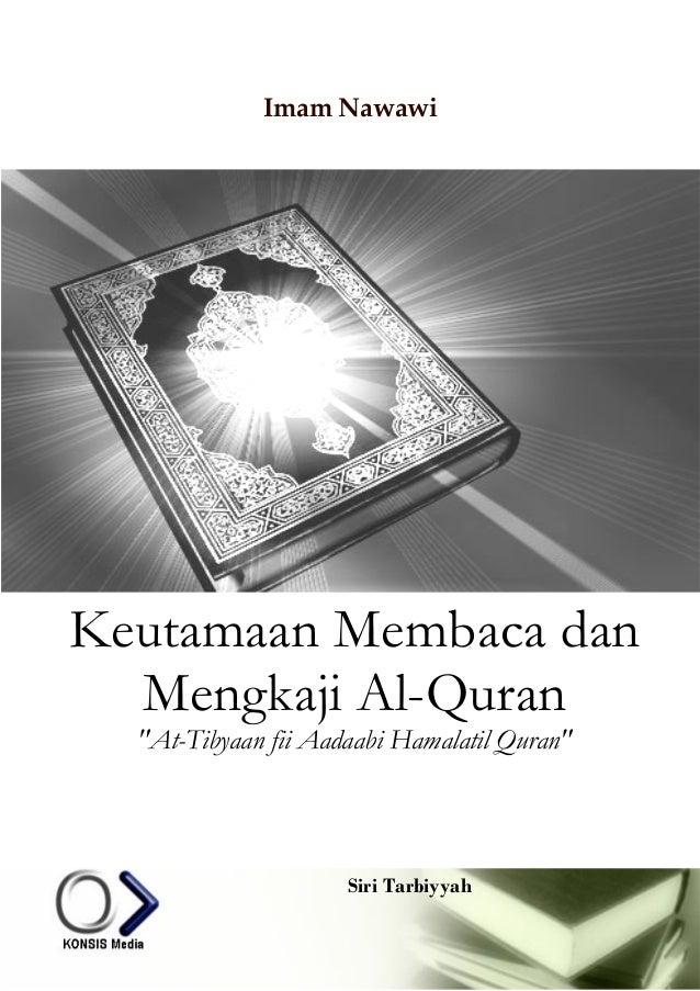 Kitab at tibyan fi adab hamalat al-qur' an karya imam nawawi - rmi project syndication - www.rmi-nu.or.id