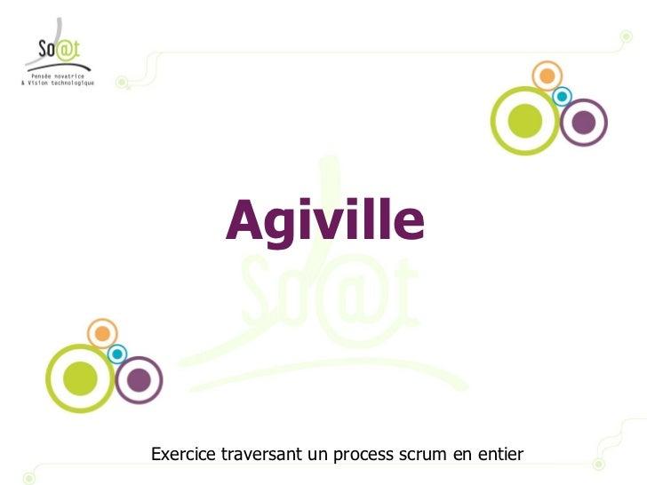 Agiville Exercice traversant un process scrum en entier