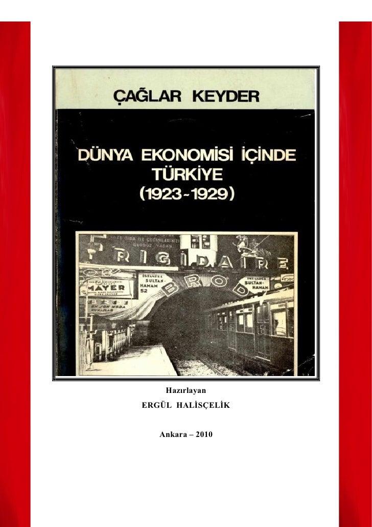HazırlayanERGÜL HALİSÇELİK   Ankara – 2010