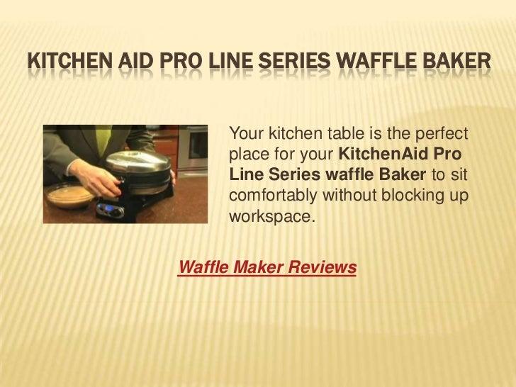 Kitchenaid pro line series waffle baker
