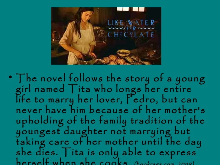 an analysis of the mexican novel of like water for chocolate by laura esquivel Like water for chocolate by laura esquivel uses the food also creates a connection to the women's mexican the narrative technique in like water for.