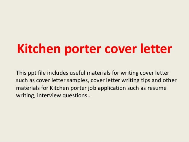 Porter Cover Letter Sample Resume Downloads Pictures To