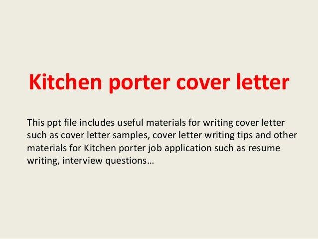 kitchen porter cover letter