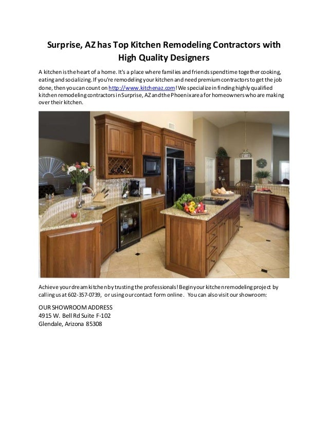 Kitchen remodeling contractors in surprise az for Kitchen remodeling companies