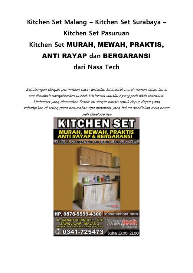 Kitchen Set Minimalis | Kitchen Set Design | Gambar Kitchen Set Malang ...