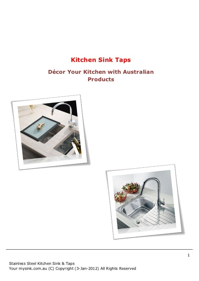 Kitchen Sink Taps                   Décor Your Kitchen with Australian                               Products             ...