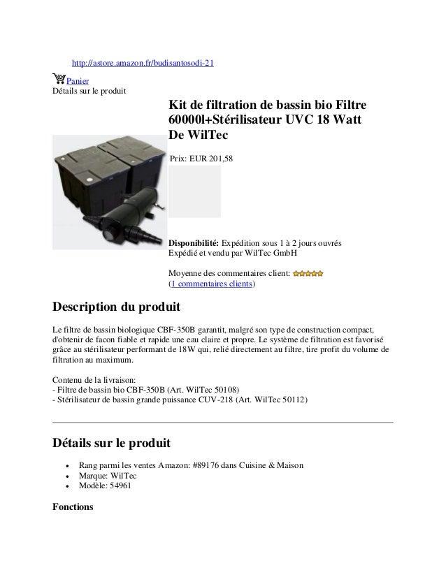 http://astore.amazon.fr/budisantosodi-21PanierDétails sur le produitKit de filtration de bassin bio Filtre60000l+Stérilisa...