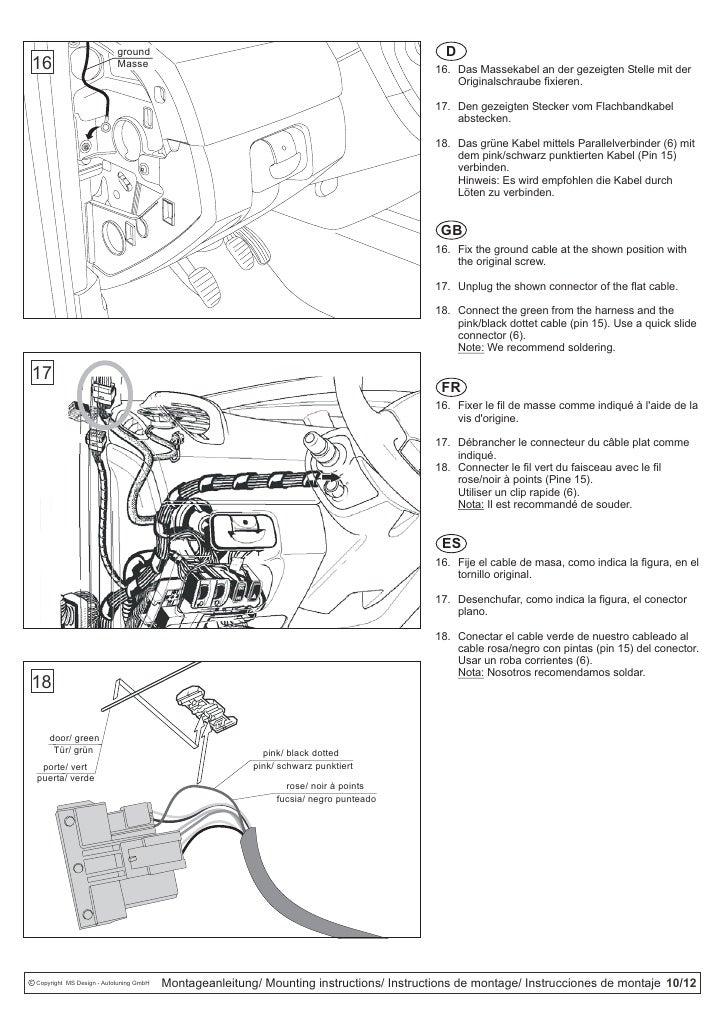 Kit d'installation pour renault scenic RSE-K100SC