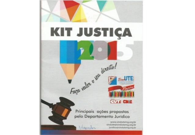 Kit Justiça 2015 Sind-UTE/MG