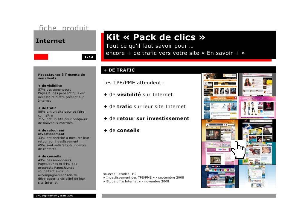 fiche produit Internet                                Kit « Pack de clics »                                         Tout c...