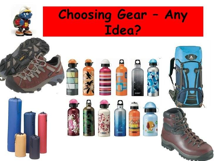 Choosing Gear – Any Idea?