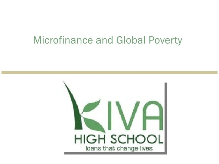 Microfinance and Global Poverty