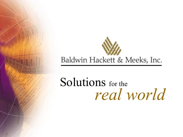 Solutions  for the real world