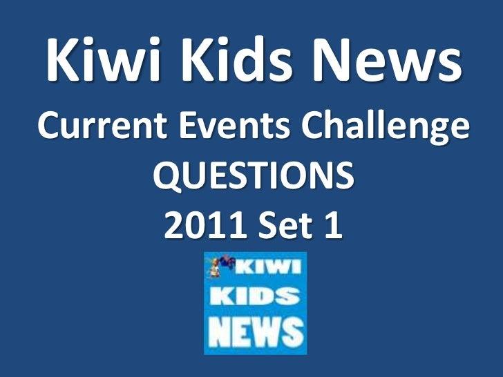Kiwi Kids News - Set 1 - 2011