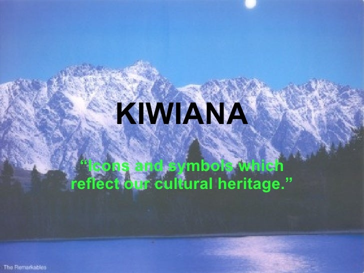 """KIWIANA  """"Icons and symbols which reflect our cultural heritage."""""""