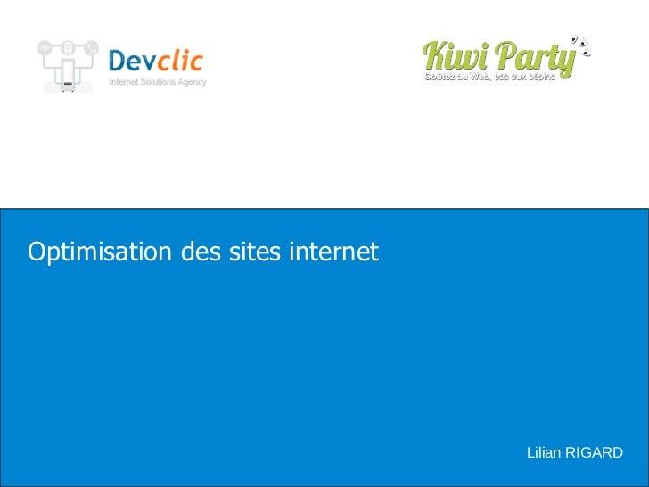 Optimisation des sites internet Lilian RIGARD
