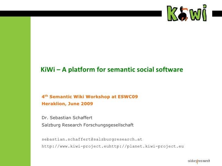 KiWi - a platform for Semantic Social Software