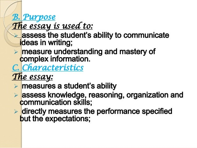 assessment and learner 7 essay Free essay: support assessment for learning outcome 1 understand the purpose and characteristics of assessment for learning 11 compare and contrast the.
