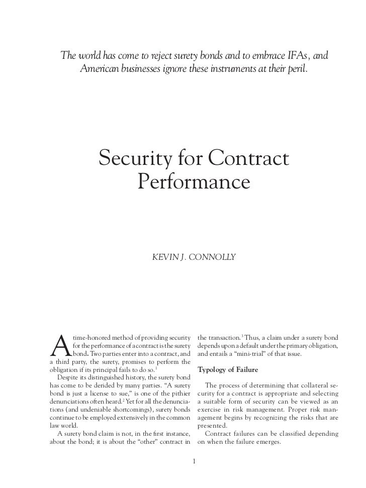 Secured Contracts, 21st Century Style
