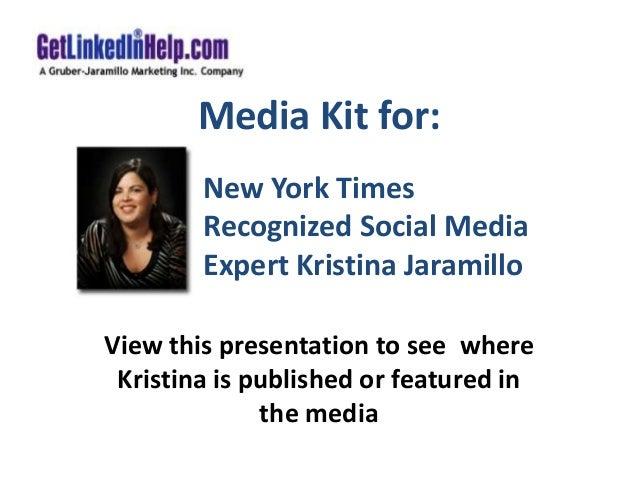 Media Kit for LinkedIn Marketing Expert Kristina Jaramillo
