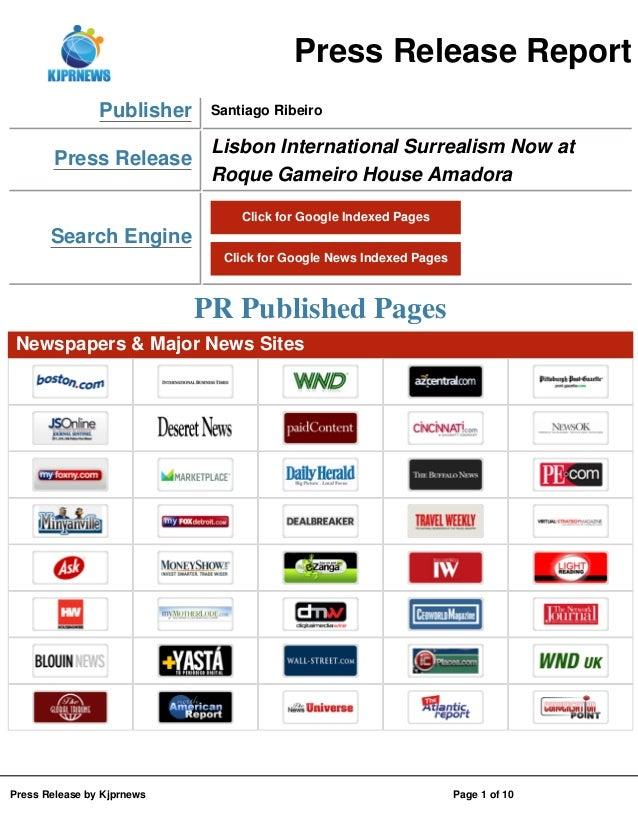 Press Release Report Publisher Press Release  Santiago Ribeiro  Lisbon International Surrealism Now at Roque Gameiro House...