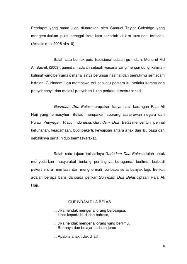 Bahasa Indonesia Gurindam Newhairstylesformen2014 Com