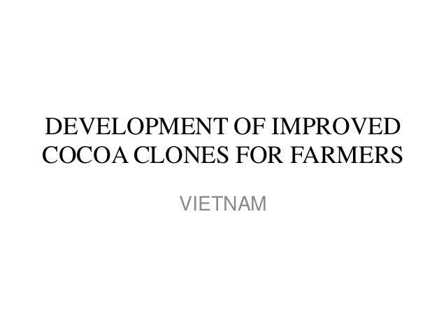 DEVELOPMENT OF IMPROVEDCOCOA CLONES FOR FARMERS         VIETNAM