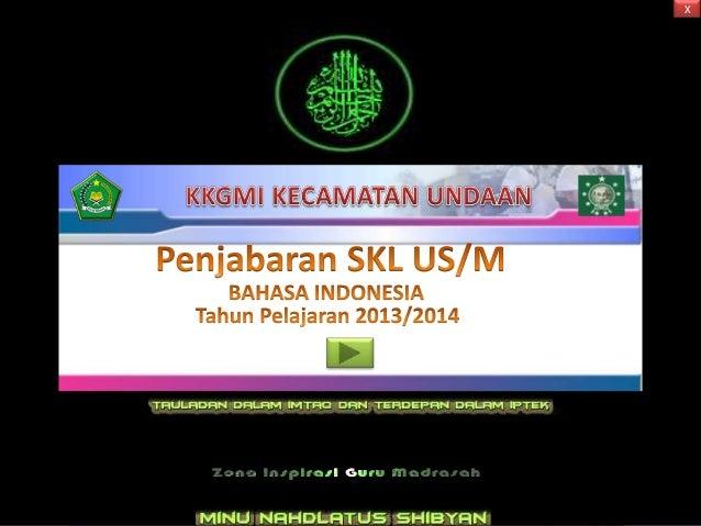 Bedah SKL Bahasa Indonesia SD Ujian 2014 by zen
