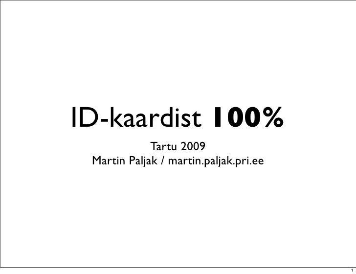 ID-kaardist 100%