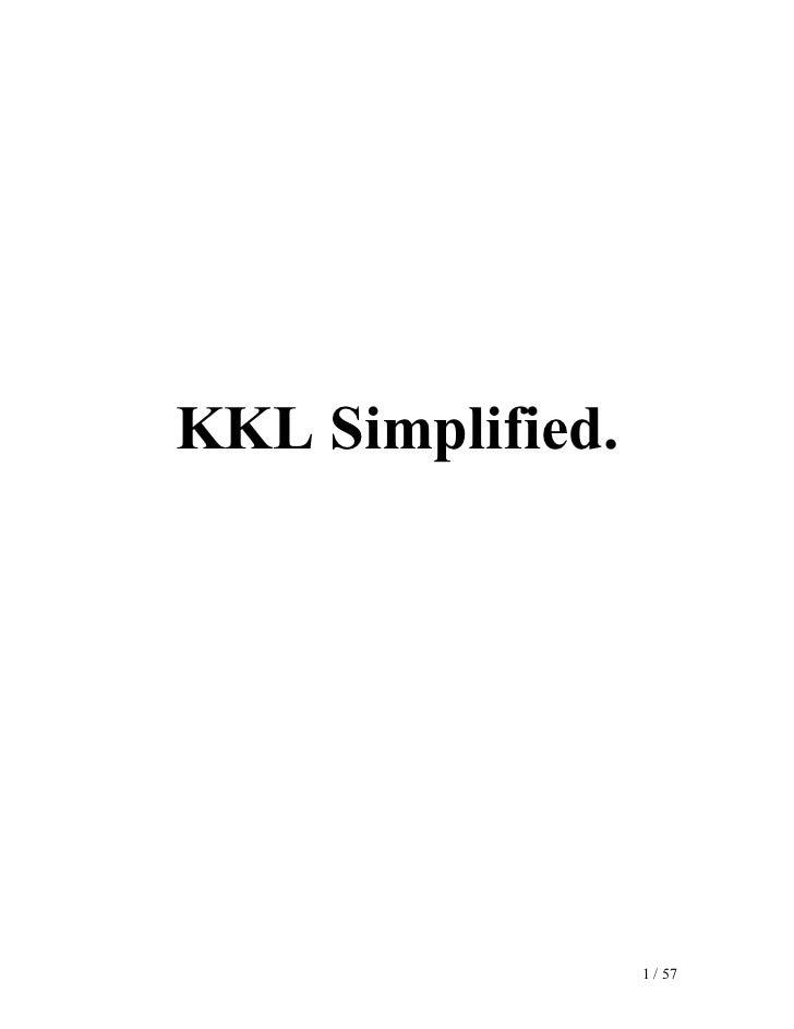 KKL Simplified.                       1 / 57