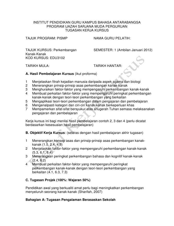 INSTITUT PENDIDIKAN GURU KAMPUS BAHASA ANTARABANGSA            PROGRAM IJAZAH SARJANA MUDA PERGURUAN                      ...
