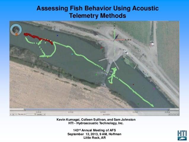 Assessing Fish Behavior Using Acoustic Telemetry Methods Kevin Kumagai, Colleen Sullivan, and Sam Johnston HTI - Hydroacou...